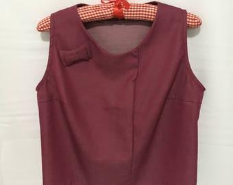 Red Ribbon Sleeveless Top