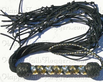 Black Bootlace Leather Flogger