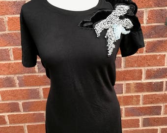 Handmade authentic embellished top t-shirt