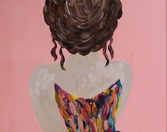 16x20 Girl in the Dress