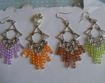 Bohemian earrings four color choices