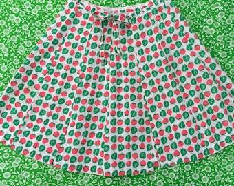 Vintage Strawberry Novelty Print Skort Peter Popovitch Skirt Shorts Retro