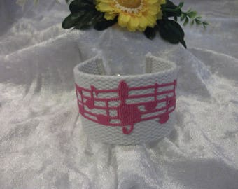 beautiful purple and white cuff and music note