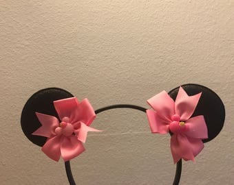 Handmade Black & Pink Minnie Mouse Ears