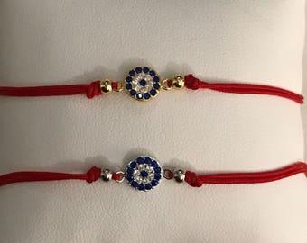 Evil Eye Red String Bracelet
