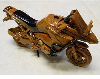 Racing Bike Motorcycle Wooden Model - Made of Mahogany Wood