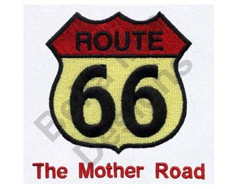Route 66 - Machine Embroidery Design, The Mother Road