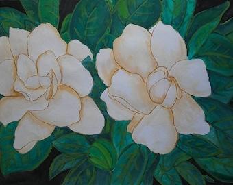 Gardenia wall art flower nature