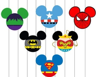 INSTANT DOWNLOAD - Mickey Mouse, Mickey Mouse Svg, Mickey Svg, Mickey Mouse Superhero Svg, Mickey Head Superhero Clipart, Superhero Mickey