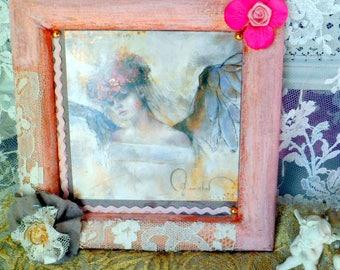 "Romantic wood, painting ""Angel"" chart"