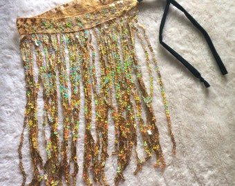 Sparkly Tie Skirt Gold/Silver