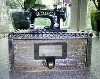 Decorative box sewing machine vintage Russian