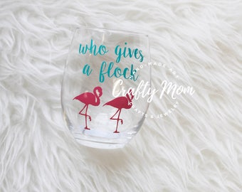 Who Gives a Flock Stemless Wine Glass