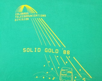 Vintage 80s Solid Gold '88 Colorado Green T Shirt