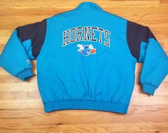 Vintage 90s Charlotte Hornets Logo 7 Jacket Coat starter size XL