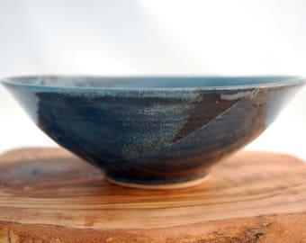 Handmade bowl, Blue bowl, ice cream bowl, Dessert bowl, Hand thrown bowl