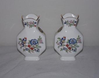 Set of 2 Vintage Vases - Royal Tara Fine Bone China - Hand Made in Galway Ireland NWT