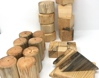 Large Log Block Set-Traditional Toys-Handmade-Eco Friendly Blocks- Log Toys- Building Block Set