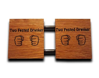 Two Fisted Drinker Coaster