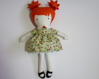 Fabric doll rag doll handmade- Emily