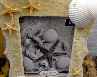Starfish beach photo frame