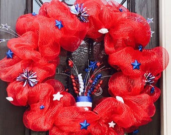 4th of July Door wreath