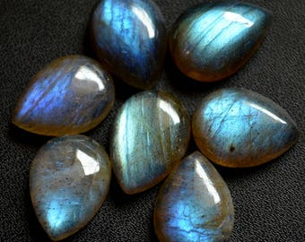 7x10  mm Natural labradorite cabochon pear loose gemstone AAA Quality