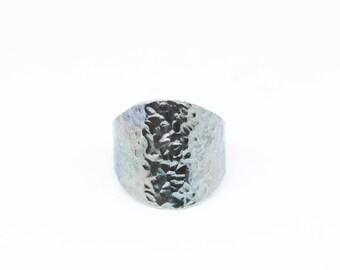 Dark Textured Silver Ring