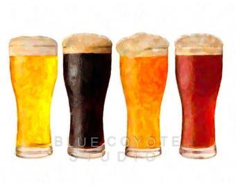 Beer Art, Beer Print, Microbrew Art, Bar Decor, Beer Poster, Bar Art Digital Download Printable File #bc43