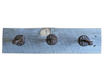 Rustic Coat Rack - Reclaimed Wood and Aged Hardware