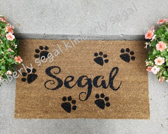 Custom personalized door mat.  CHIN UP BUTTERCUP!