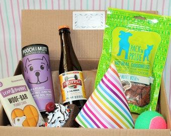 Dog Celebration Birthday/Christmas Hamper Gift Box