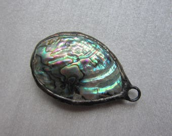 Hand Soldered Abalone Pendant