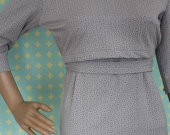 Maternity & Nursing dress Gray Mandala L, comfortable maternity dress, maternity wear, beautiful nursing dress from mBrace maternity