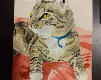 Custom Watercolor Tiny Pet Portrait