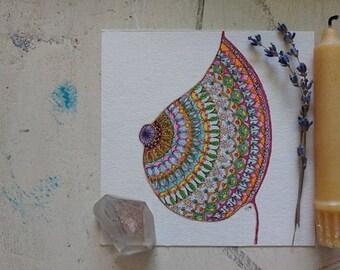 Breast Mandala Art