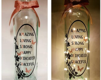 What is a Mother led light up bottle gift.