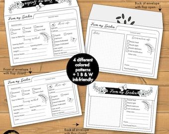 Garden Seed packet Printable, Seed envelope, seed saving envelope,Spring garden kit,printable seed pack, seed gift packets - AMBP-200