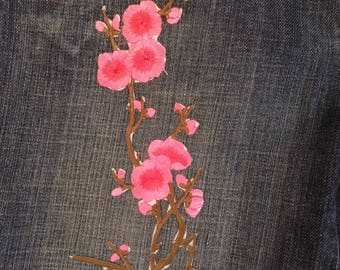 Pink flower chain jeans