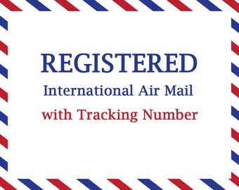 International Registered Air Mail With Tracking Number