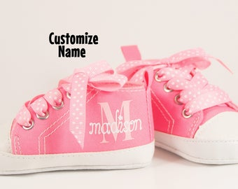 Baby shoes etsy pink sneakers baby girl shoe personalized baby shoes baby shoes infant shoes negle Image collections
