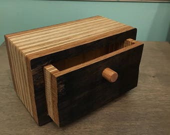 Whiskey Stave Bandsaw Box