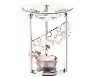 Bejeweled Hearts Oil Warmer