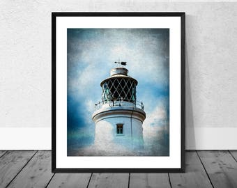 Lighthouse Art Print, Seaside Art Print, Lighthouse Photography, Landscape, Southwold, Beach Art, Coastal Decor,  Seascape, Home Décor