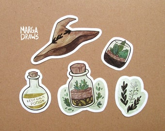Sticker Set - Herbalist Witch