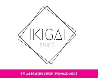"Premade logo, geometric logo, shapes, linear, ""Ikikai"""