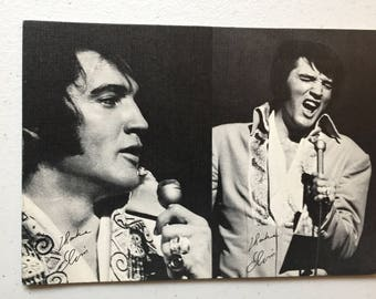 Elvis now 1970 summer festival postcard