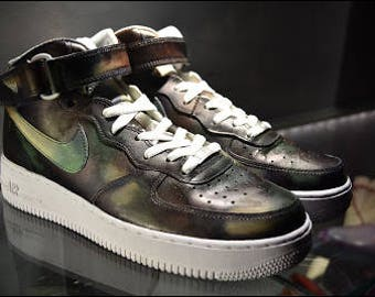 """Nike Air Force One """"Survival Military""""  By JDConstance"""