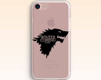 Game Of Thrones iPhone 7 Case iPhone 8 Plus Stark Case iPhone 6s Cover iPhone 7 Plus Clear GOT case for Samsung S8 case for Galaxy S7 S6 067