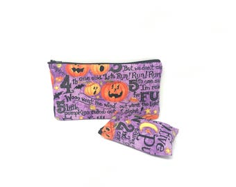 Cosmetic Bag, Makeup Brush Holder, Make-up Bag, Makeup Bag, Pencil Case, Makeup Organizer, Makeup Organizers, Zipper Pouch, Pumpkins